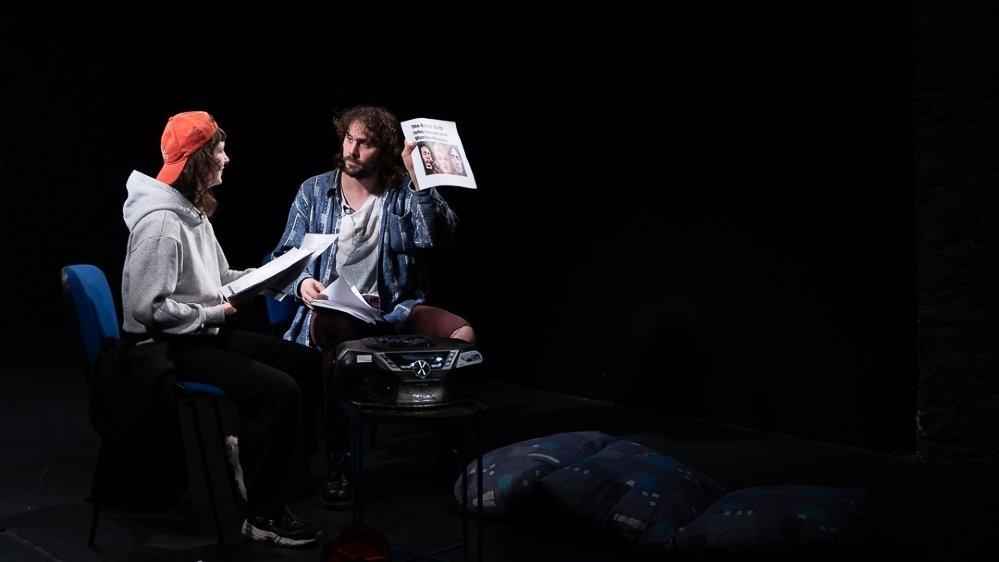 Julie Bugnard et Christian Cordonier en pleine répétition de leur prochaine création.