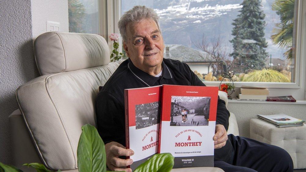 Noël Bianchi-Pastori a couché l'histoire du FC Monthey sur quelque 800 pages.