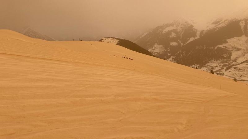 Valais: l'air reste pollué par le sable du Sahara