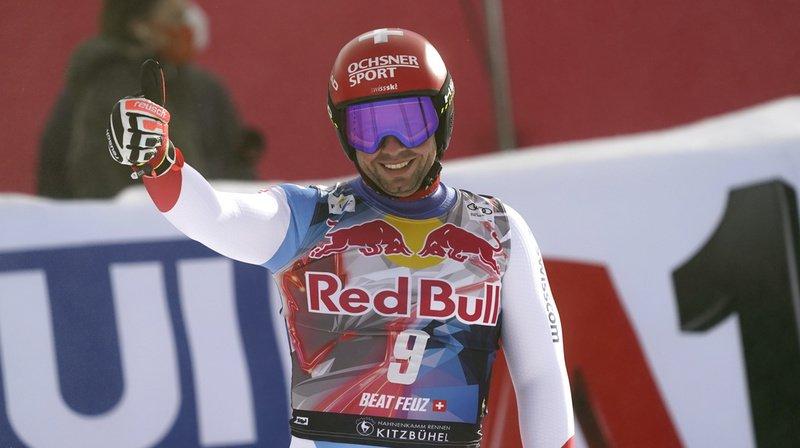 Ski alpin: Beat Feuz remporte de nouveau la descente de Kitzbühel