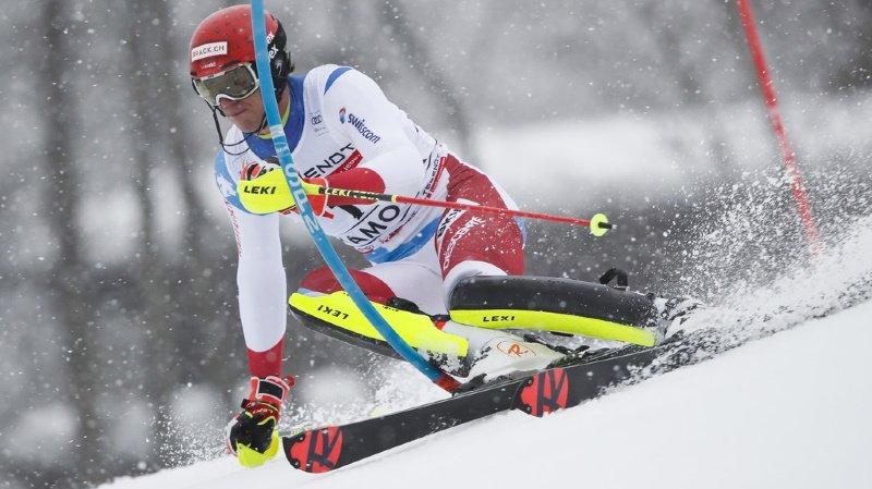 Ski alpin: Ramon Zenhäusern termine 2e du premier slalom de Chamonix