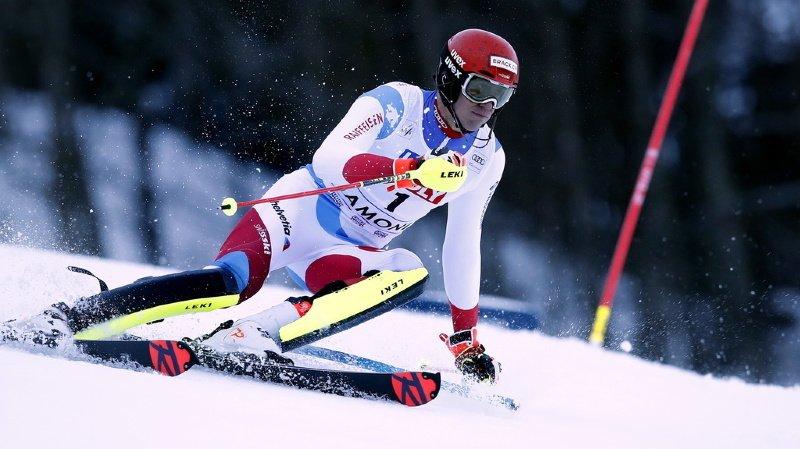 Ski alpin: Ramon Zenhäusern et Sandro Simonet sur le podium du deuxième slalom de Chamonix