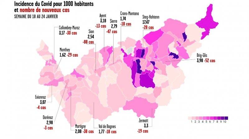 Coronavirus: la semaine dernière, le Valais a eu la pire incidence de Suisse