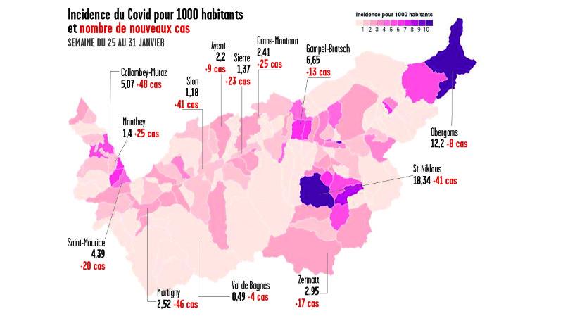 Coronavirus: le village de Saint-Nicolas a enregistré autant de cas que Sion la semaine dernière