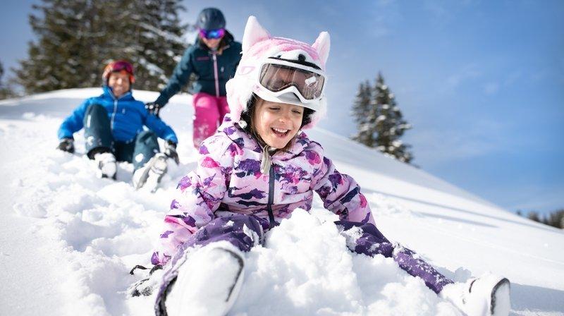 A Torgon, les enfants peuvent s'adonner aux joies de la glisse et des sports d'hiver.