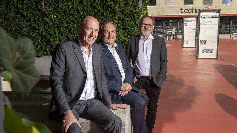 Sierre: les trois pères fondateurs du Techno-Pôle passent la main