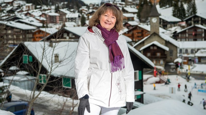 Sylviane Dérobert-Claret a toujours vécu à Morgins et y a longtemps travaillé au sein de l'office du tourisme.