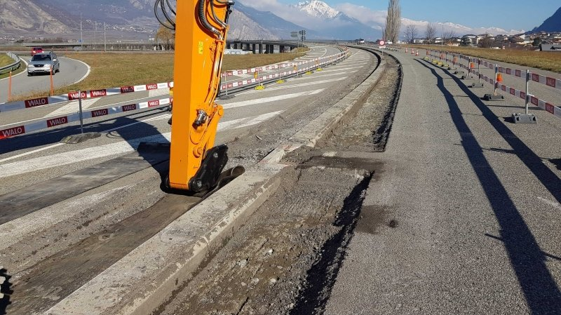 Valais: l'assainissement du viaduc de Riddes est bien lancé