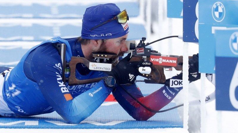 Benjamin Weger rate la cible à plusieurs reprises lors de son premier tir.