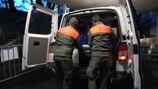 En route avec une équipe de vaccination mobile de la Protection civile