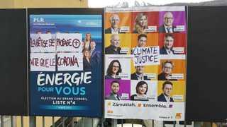 Affiches électorales: des plaintes pénales déposées en Valais pour confondre les vandales