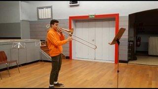 Le tromboniste Baptiste Bobillier a fait coup double en gagnant chez les cadets et chez les juniors.