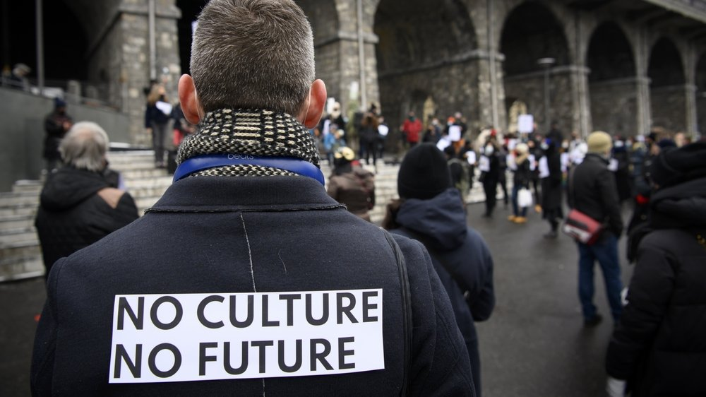«No Culture No Future», le slogan des acteurs culturels romands lors des manifestations du 13 février.