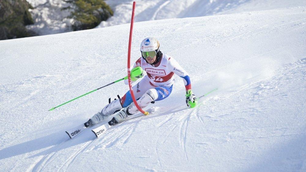 Le skieur du Châble avait terminé huitième des Nationaux de slalom en 2020.