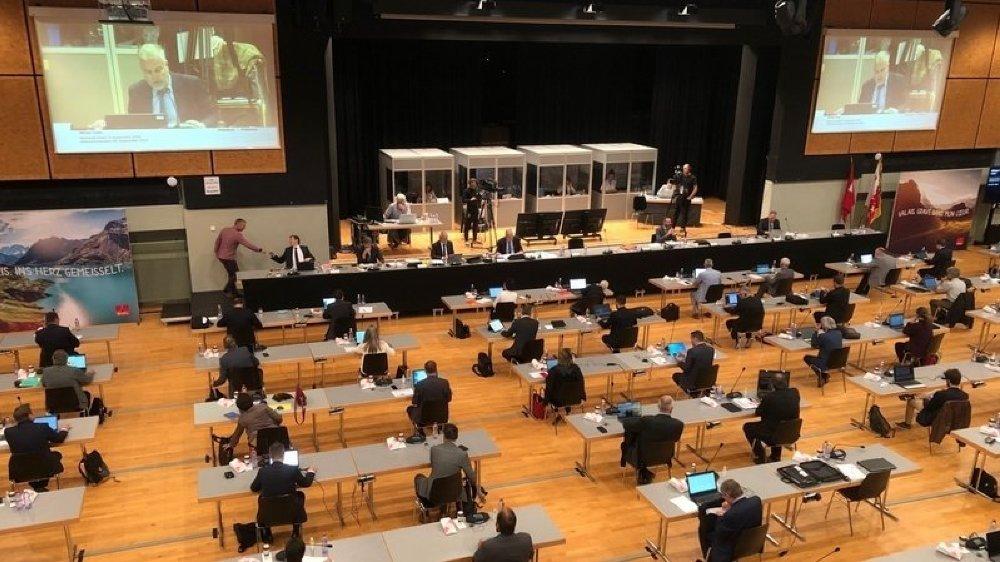 En avril, les 260 membres du nouveau Grand Conseil se réuniront à la Simplonhalle de Brigue pour une assermentation délocalisée, toujours en raison du coronavirus.