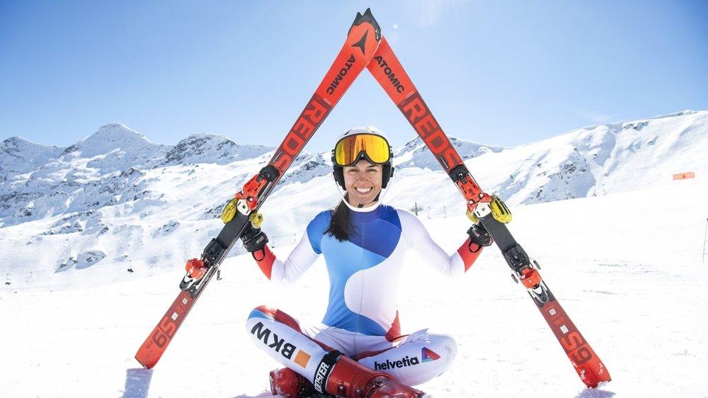 Le triangle des trois grandes premières pour Malorie Blanc: première année FIS, première année au collège à Brigue et meilleur résultat aux nationaux ce mercredi.