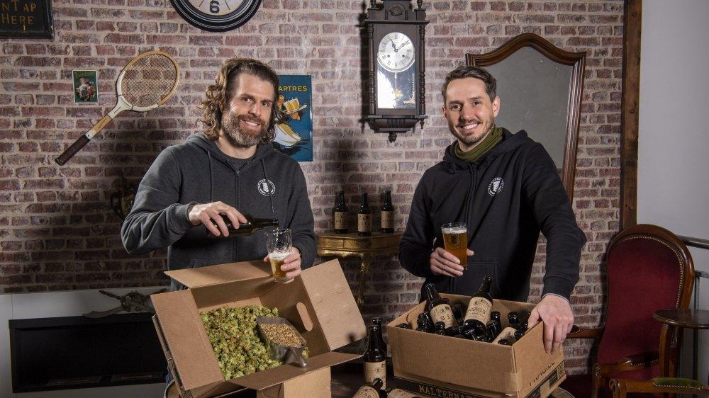 David et Romain se font un honneur de brasser une bière avec le plus possible de matières premières valaisannes et surtout un produit labellisé Bio Bourgeon