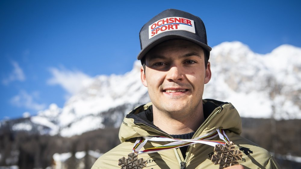 Loïc Meillard a enlevé deux des trois médailles de la délégation masculine à Cortina.