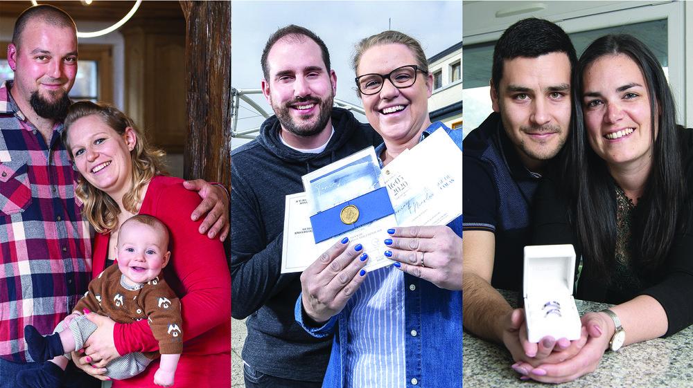 Jérémie et Sarah Gaudin, avec leur fils Armand, Nicolas Othenin-Girard et Tania Matthieu, Oscar et Emmanuelle Torres font partie de ces nombreux Valaisans dont le mariage est mis à rude épreuve par le coronavirus.