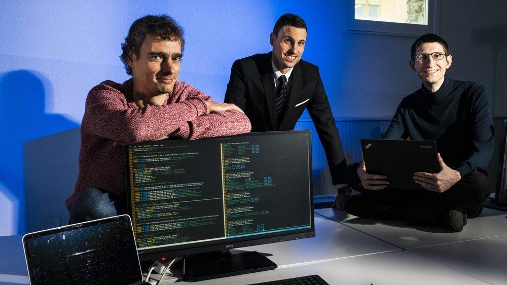 De g. à dr.: Nils Schüler, Nicolas Sommer et Sébastien Cajot sont les cofondateurs d'Urbio.