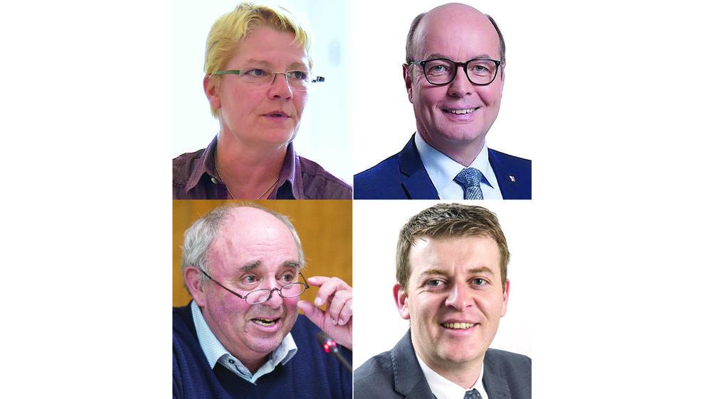 Barbara Lanthemann (PS), Stéphane Pont (PDC), Albert Pitteloud (UDC) et Xavier Mottet (PLR) n'ont pas été réélus au Grand Conseil le 7 mars 2021.