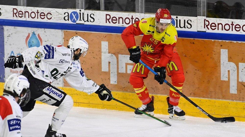 Thibaut Monnet a ouvert le score pour Sierre. Mais les Valaisans sont rentrés dans le rang dès le deuxième tiers.