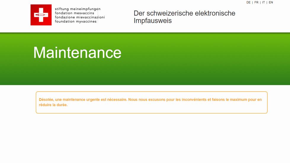 Carnet de vaccination électronique: pourquoi la plateforme mesvaccins.ch est suspendue