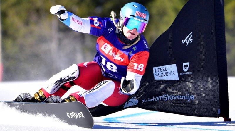 Snowboard: Julie Zogg 3e en géant parallèle à Rogla