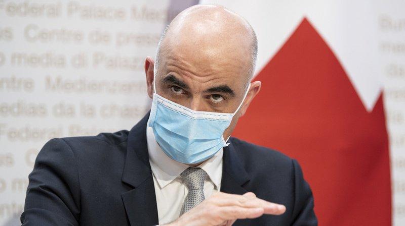 Alain Berset s'est exprimé vendredi devant la presse à Berne.
