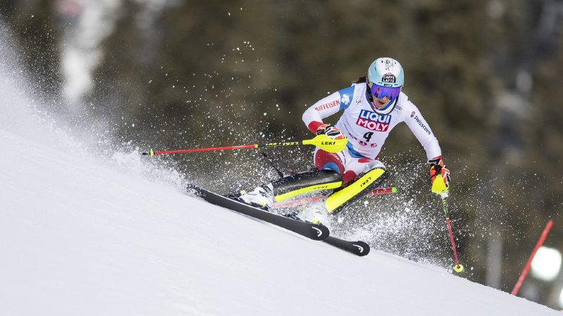Ski alpin: Holdener termine 3e du second slalom d'Are