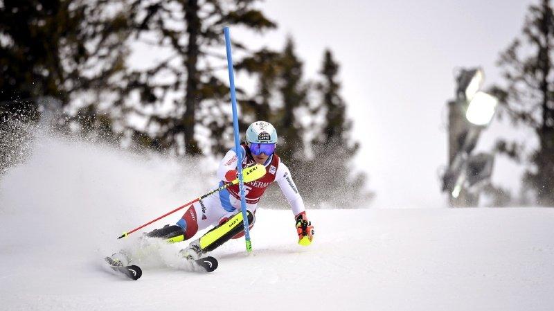 Ski alpin: Holdener 4e après la 1re manche du second slalom d'Are