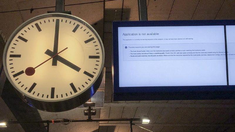 Trafic ferroviaire: vente des billets CFF à nouveau possible