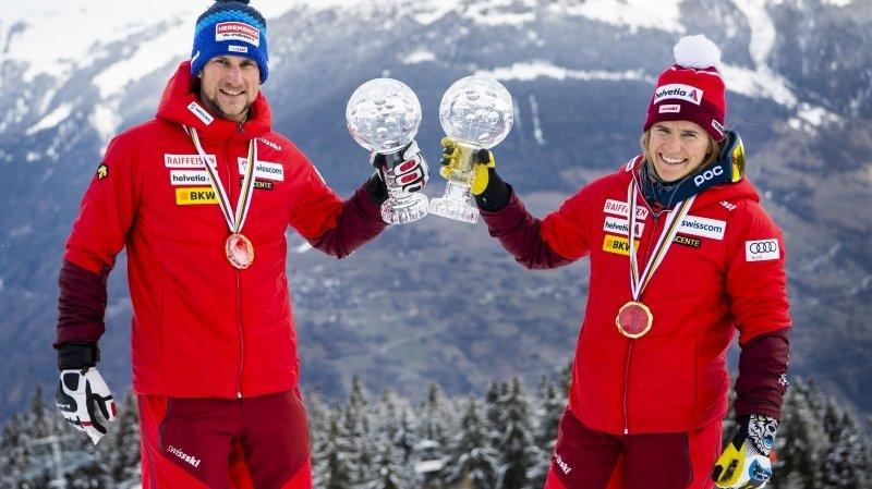 Bastien Dayer et Amélie Wenger-Reymond avaient remporté le classement général de la Coupe du monde le week-end dernier à Thyon. Ils ont parfaitement lancé leurs Mondiaux ce vendredi.