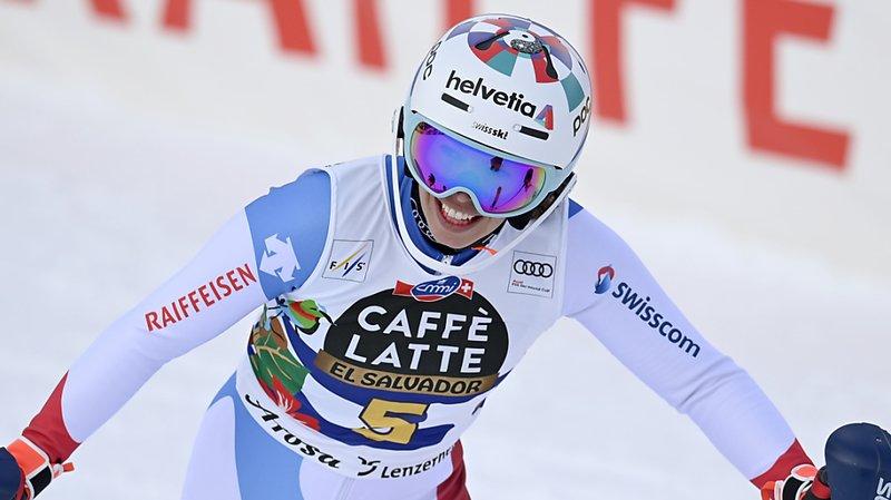 Michelle Gisin 5e au terme de la première manche du slalom.