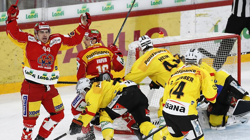 Hockey sur glace: Bienne gagne pour la cinquième fois de suite