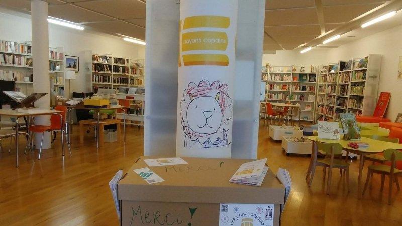 On peut déposer ses crayons et feutres dans les bibliothèques qui prennent part à l'opération.