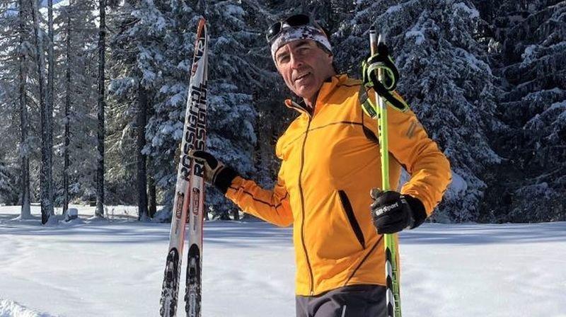 Jean-Marcel Délitroz s'entraîne dur pour boucler ses 24 heures à ski de fond.
