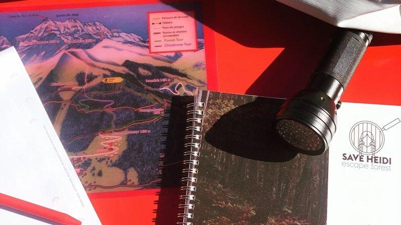 Les Giettes: un jeu de piste en forêt pour sauver Heidi