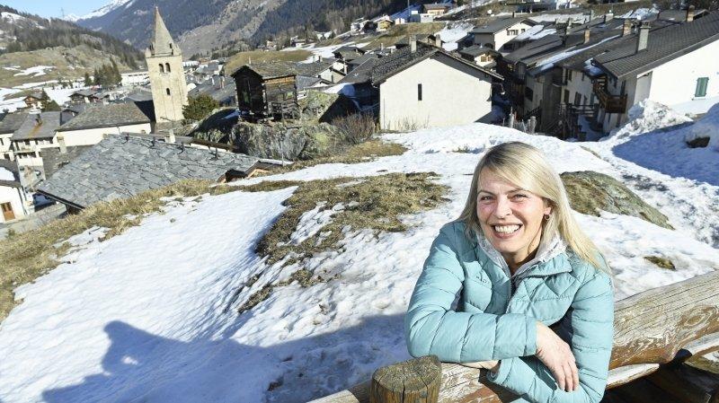 Jane Delasoie Bruchez aime la vie au grand air à Bourg-Saint-Pierre.