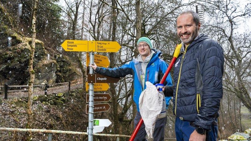 Sentiers de randonnée: 8000 kilomètres à baliser et à entretenir en Valais