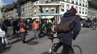 Climat: manifestation à Berne