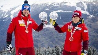 Télémark: Amélie Wenger-Reymond et Bastien Dayer champions du monde de sprint