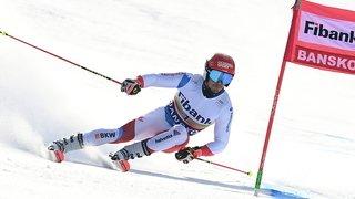 Ski alpin: Loïc Meillard peut viser la victoire dans le deuxième géant de Bansko