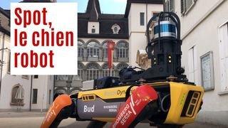 Spot, un chien robot dans les rues de Sierre