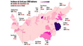 Coronavirus: l'épidémie au niveau de début octobre en Valais