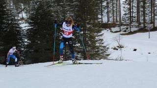Estelle Darbellay et Sophie Rey en vue lors de confrontations nationales de ski de fond