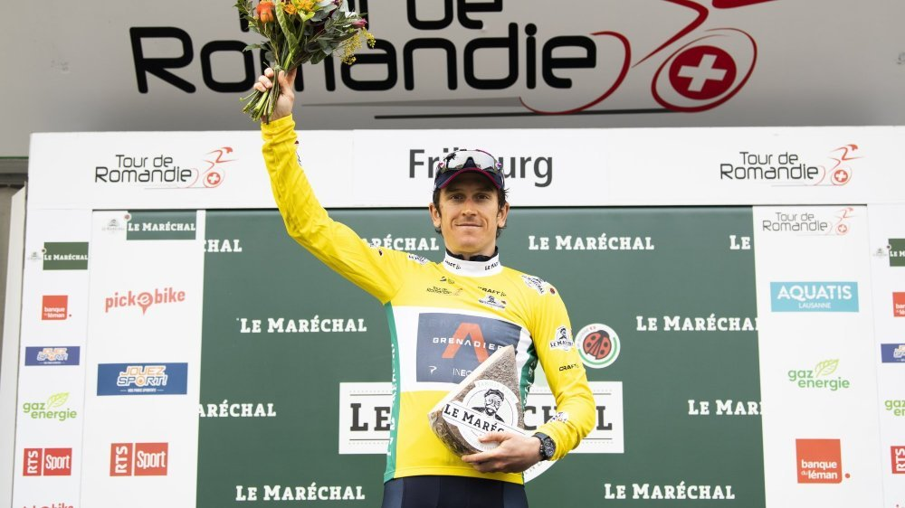 Geraint Thomas a enfilé le maillot jaune lors du dernier jour alors qu'il lui était promis samedi déjà.
