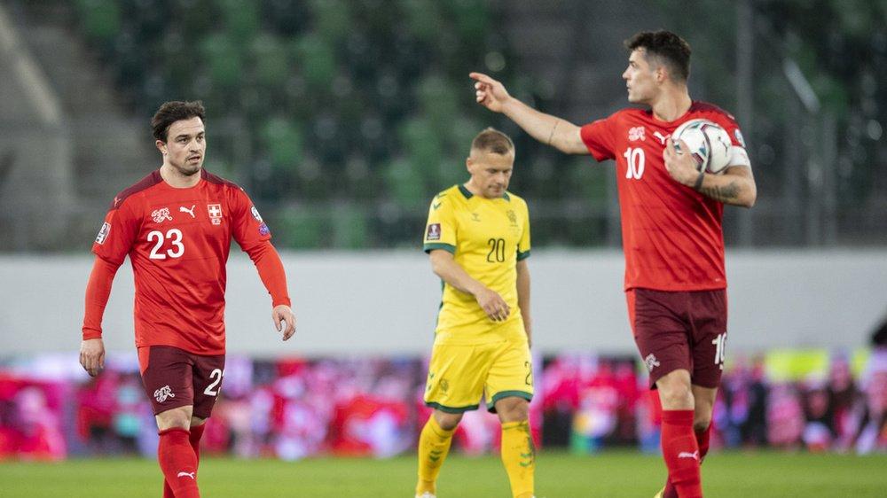 Les joueurs de l'équipe suisse Xherdan Shaqiri et Granit Xhaka évoluent dans 2 des 12 clubs fondateurs du projet de Super League européenne.