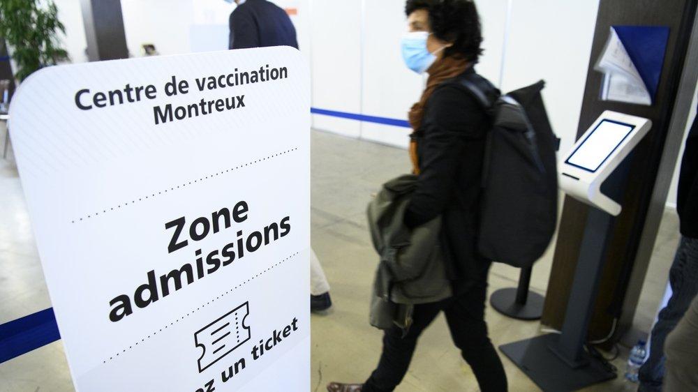 Les Vaudois inauguraient lundi le centre de vaccination de Montreux, le 14e du canton.