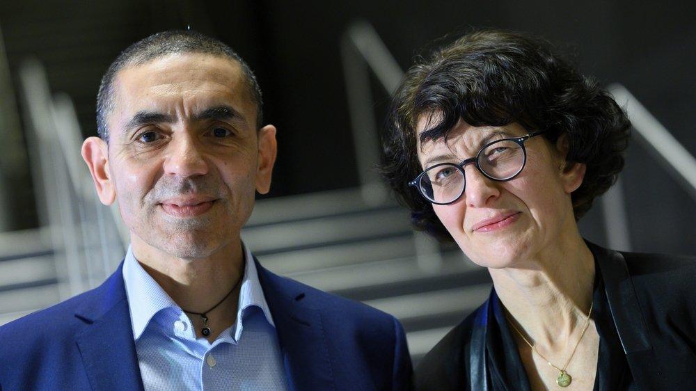 Ugur Sahin et sa femme Ozlem Tureci, fondateurs de BioNTech.